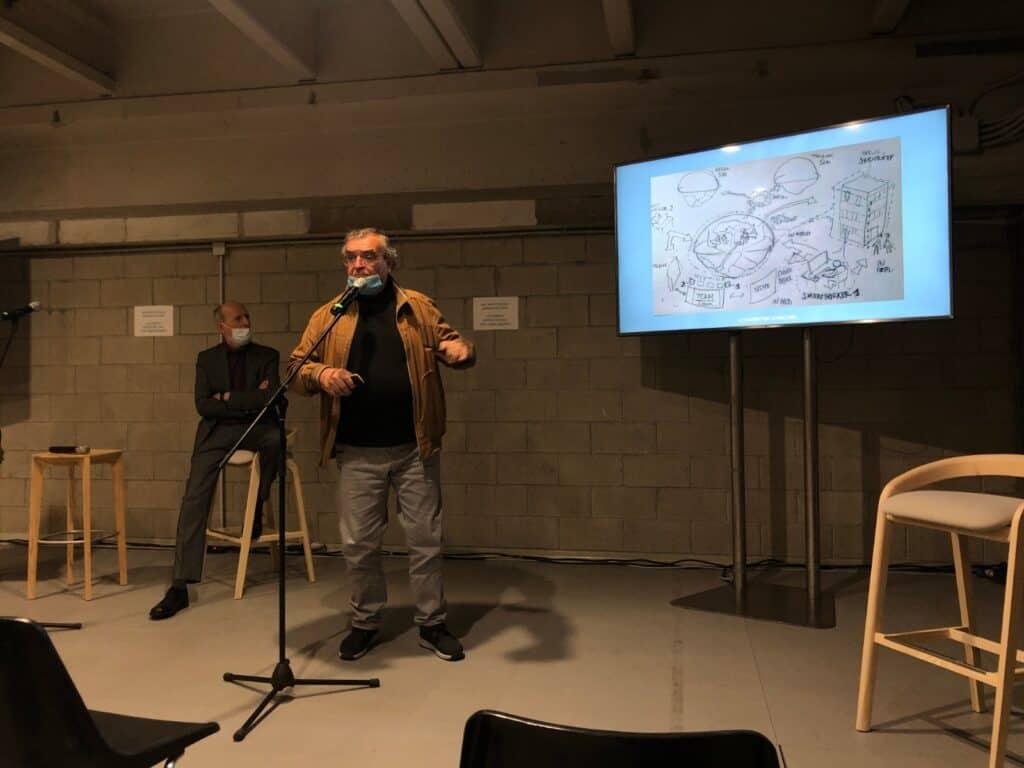 Stefano Lazzari  al convegno All Arounf Work, al Megawatt Court di Milano, 6 ottobre